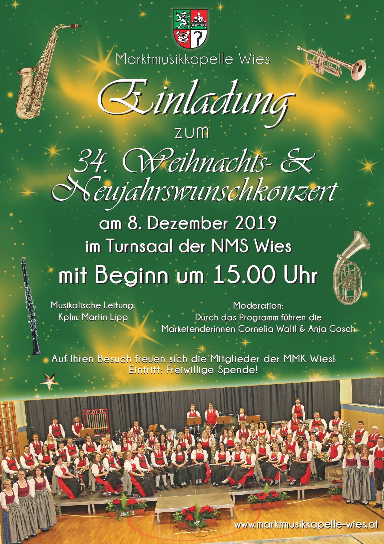 Einladung Weihnachtskonzert